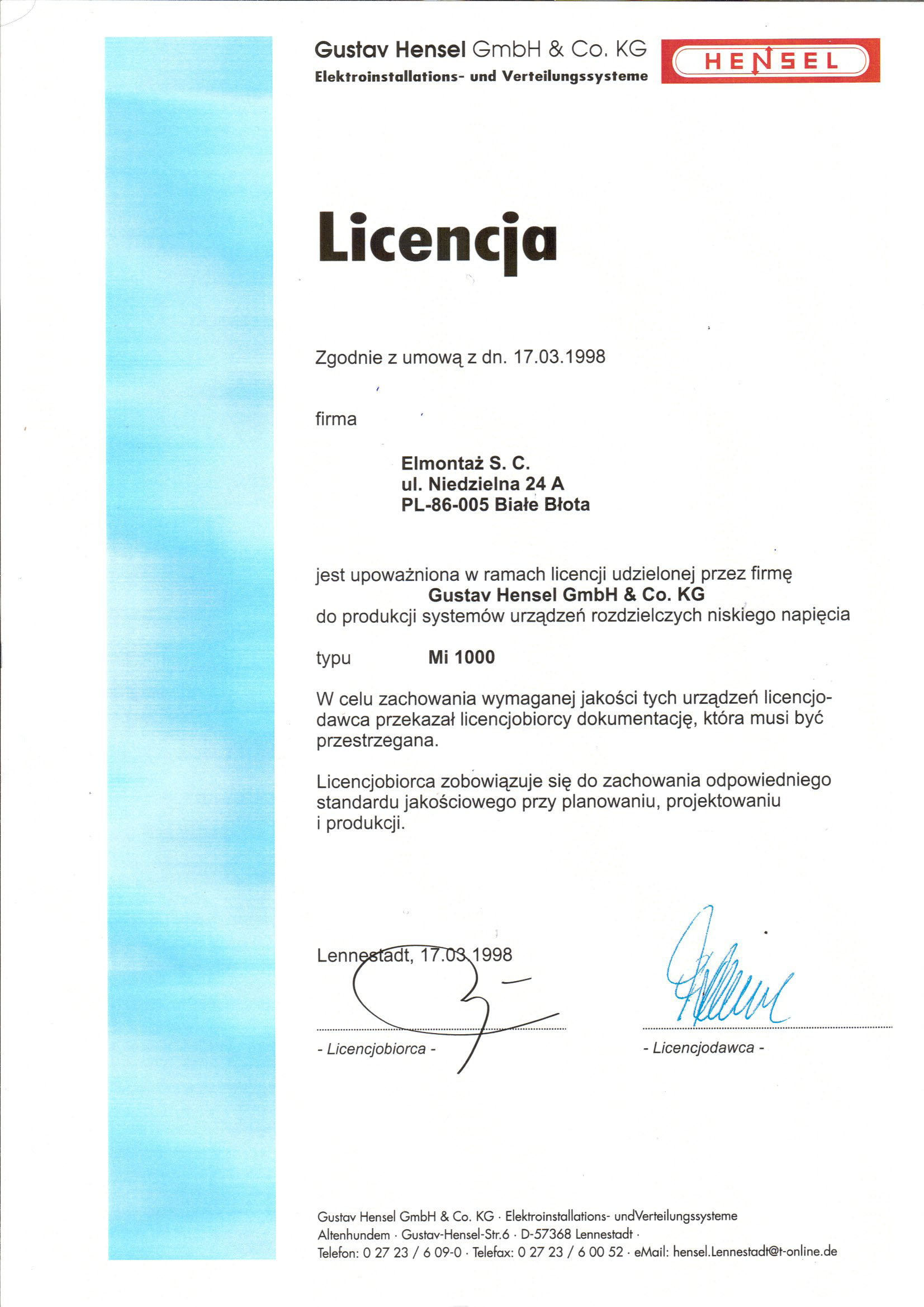 Licencja Hensel